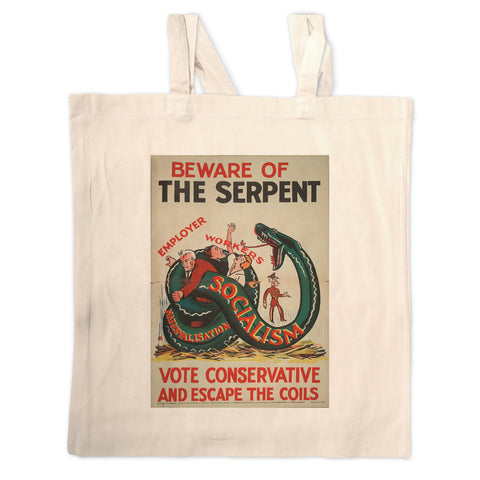 Beware of the Serpent Long Handled Tote Bag