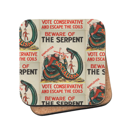 Beware of the Serpent Cork Coaster