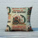 Beware of the Serpent Feather Cushion (Lifestyle)