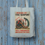 Beware of the Serpent Long Handled Tote Bag (Lifestyle)