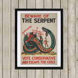 Beware of the Serpent Black Framed Print (Lifestyle)