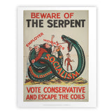 Beware of the Serpent Art Print