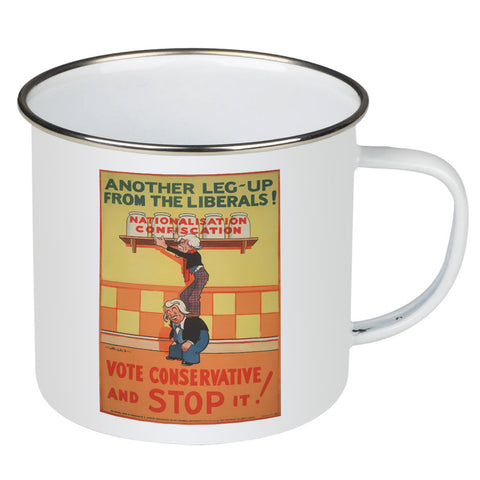 Another leg-up from the Liberals! Enamel Mug