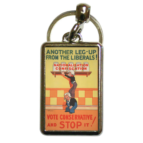 Another leg-up from the Liberals! Metal Keyring