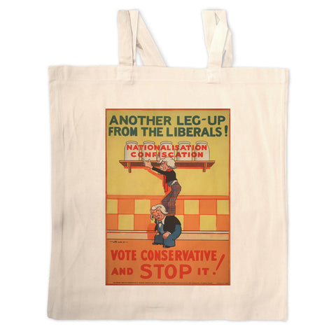 Another leg-up from the Liberals! Long Handled Tote Bag