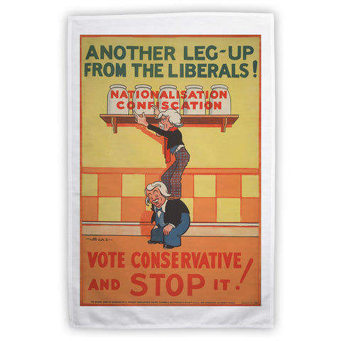Another leg-up from the Liberals! Tea Towel