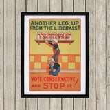 Another leg-up from the Liberals! Black Framed Print (Lifestyle)