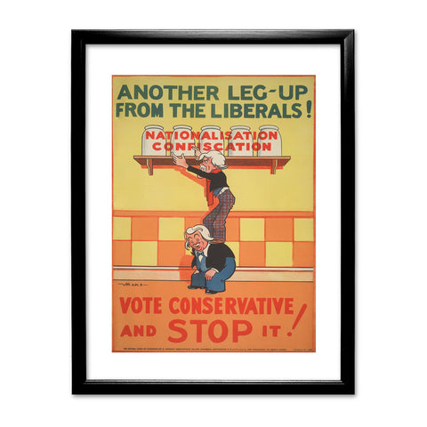 Another leg-up from the Liberals! Black Framed Print
