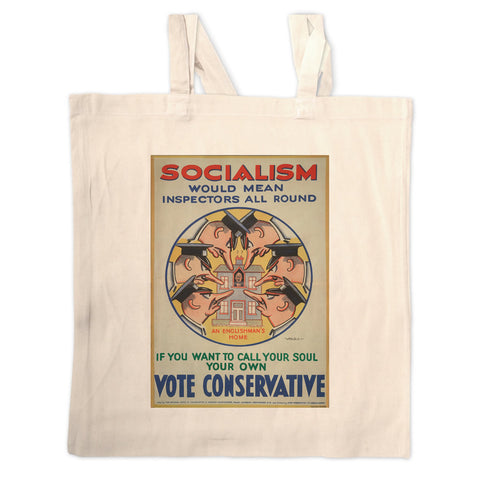 Socialism would mean inspectors all round Long Handled Tote Bag