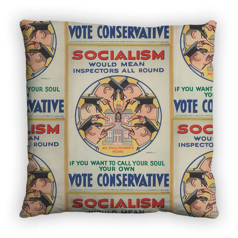 Socialism would mean inspectors all round Feather Cushion