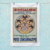 Socialism would mean inspectors all round Tea Towel (Lifestyle)