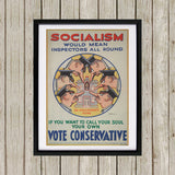 Socialism would mean inspectors all round Black Framed Print (Lifestyle)