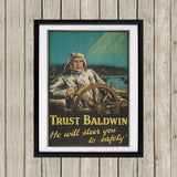 Trust Baldwin Black Framed Print (Lifestyle)