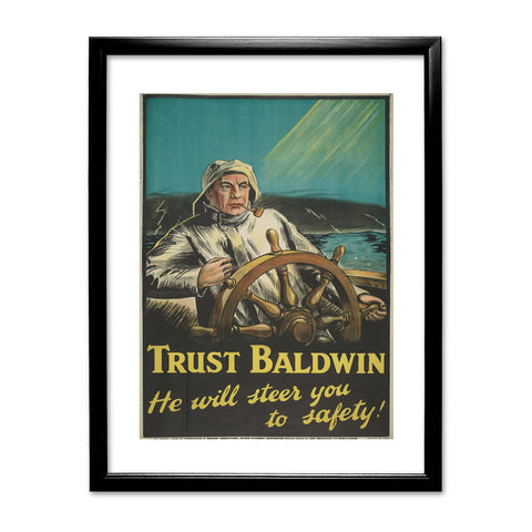 Trust Baldwin Black Framed Print
