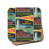Let the lighthouse of Conservatism save 'SS Great Britain' from the rocks of Socialism Cork Coaster
