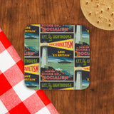Let the lighthouse of Conservatism save 'SS Great Britain' from the rocks of Socialism Cork Coaster (Lifestyle)