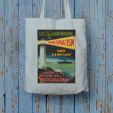 Let the lighthouse of Conservatism save 'SS Great Britain' from the rocks of Socialism Long Handled Tote Bag (Lifestyle)