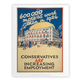 600,000 more at work than in 1924 Art Print