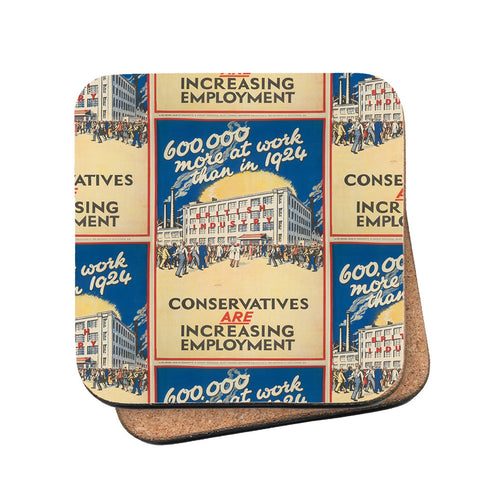 600,000 more at work than in 1924 Cork Coaster