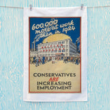 600,000 more at work than in 1924 Tea Towel (Lifestyle)