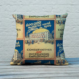 600,000 more at work than in 1924 Feather Cushion (Lifestyle)