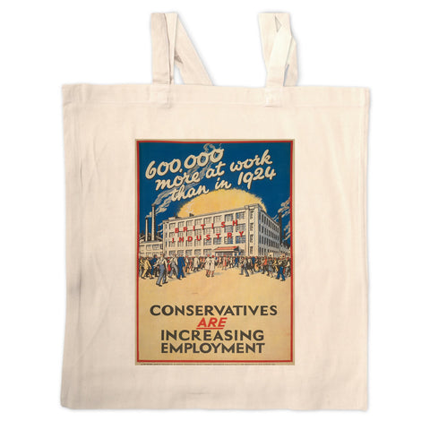600,000 more at work than in 1924 Long Handled Tote Bag