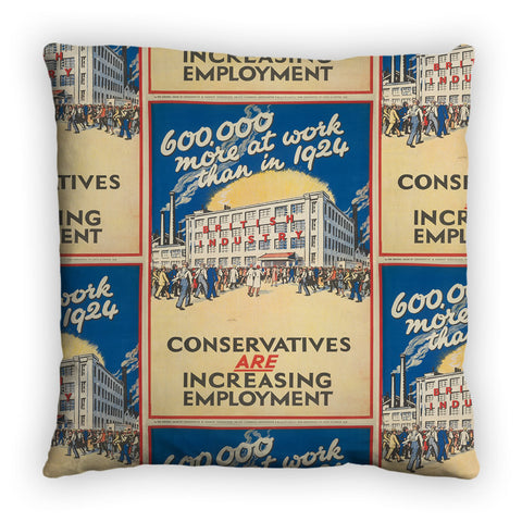 600,000 more at work than in 1924 Feather Cushion
