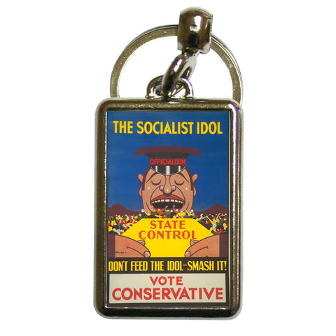 The Socialist idol Metal Keyring