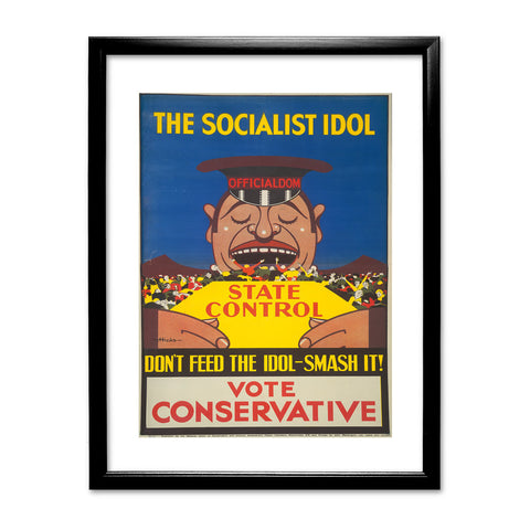 The Socialist idol Black Framed Print
