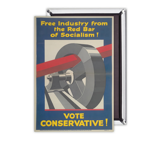 Free industry from the red bar of socialism Magnet