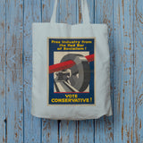 Free industry from the red bar of socialism Long Handled Tote Bag (Lifestyle)