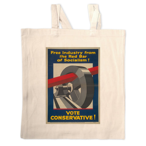 Free industry from the red bar of socialism Long Handled Tote Bag