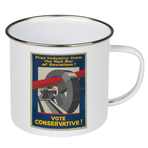 Free industry from the red bar of socialism Enamel Mug