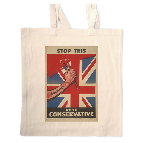 Stop this Long Handled Tote Bag