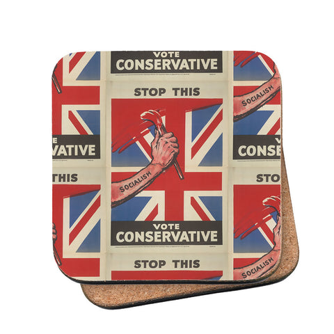 Stop this Cork Coaster