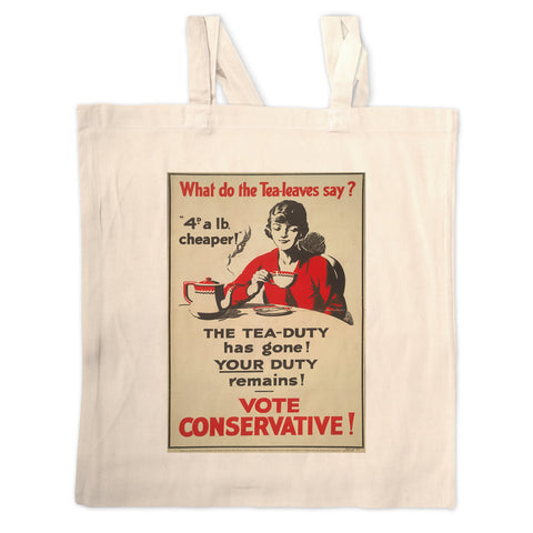 What do the tea leaves say? Long Handled Tote Bag