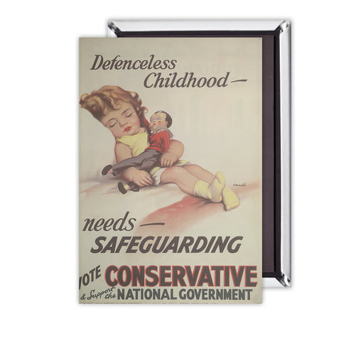 Defenceless childhood - needs safeguarding Magnet