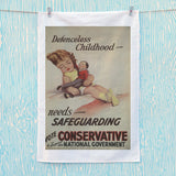 Defenceless childhood - needs safeguarding Tea Towel (Lifestyle)