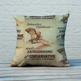 Defenceless childhood - needs safeguarding Feather Cushion (Lifestyle)
