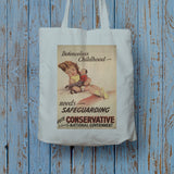 Defenceless childhood - needs safeguarding Long Handled Tote Bag (Lifestyle)
