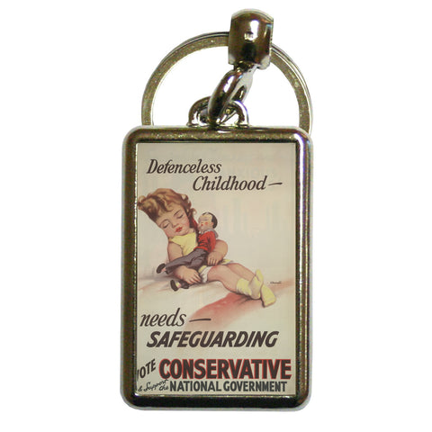 Defenceless childhood - needs safeguarding Metal Keyring