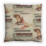 Defenceless childhood - needs safeguarding Feather Cushion