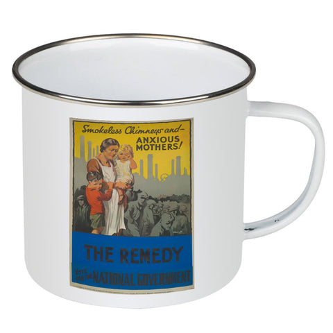 Smokeless chimneys and anxious mothers! Enamel Mug
