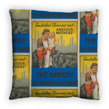 Smokeless chimneys and anxious mothers! Feather Cushion