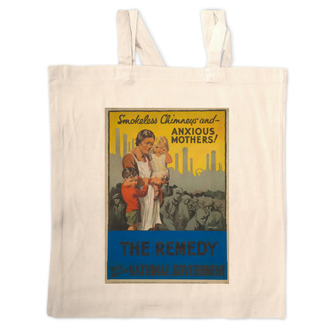 Smokeless chimneys and anxious mothers! Long Handled Tote Bag