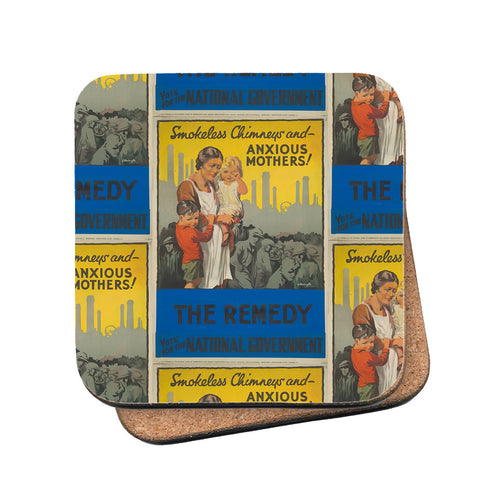 Smokeless chimneys and anxious mothers! Cork Coaster