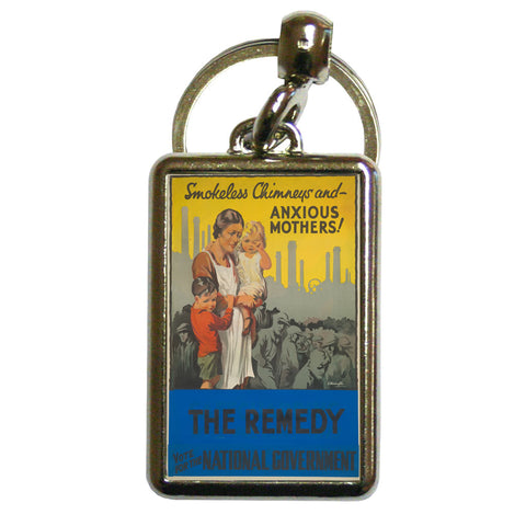 Smokeless chimneys and anxious mothers! Metal Keyring