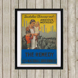 Smokeless chimneys and anxious mothers! Black Framed Print (Lifestyle)