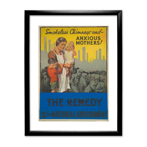 Smokeless chimneys and anxious mothers! Black Framed Print