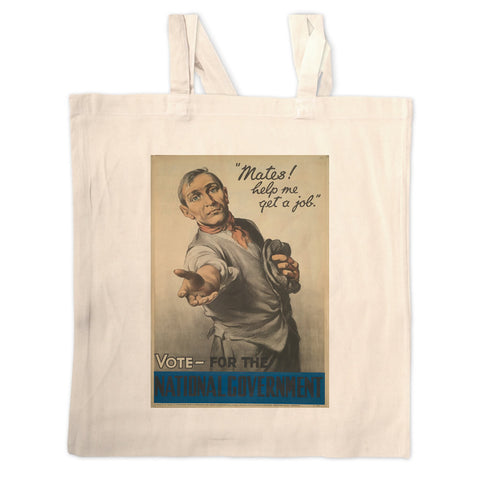 """Mates! Help me get a job!"" Long Handled Tote Bag"